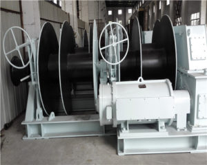Brand 10T double drum electric mooring winch for sale
