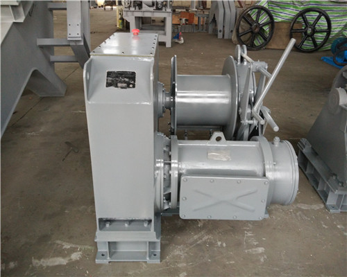 5T electric marine winch with double drum for sale