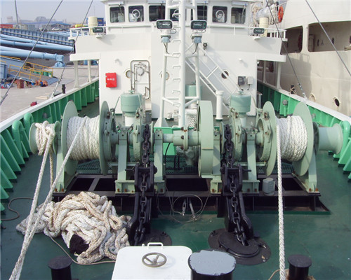 Electric Anchor winch with double gypsy wheel