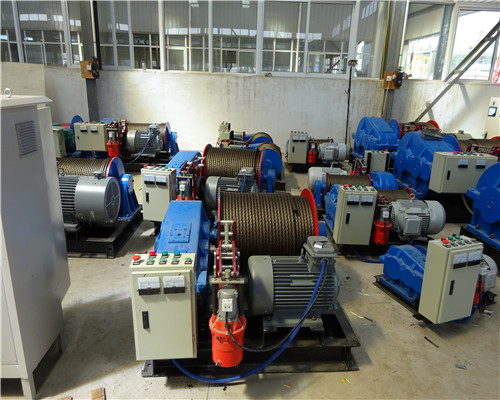 Specification of JM 10 ton Variable Speed Winch