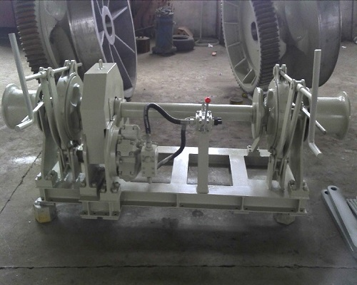 17.5 Hydraulic double anchor chain marine drum winch for sale