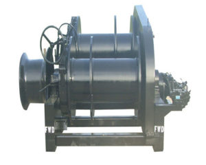 double drum hydraulic towing winch