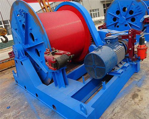 20 ton electric winches are supplied here,
